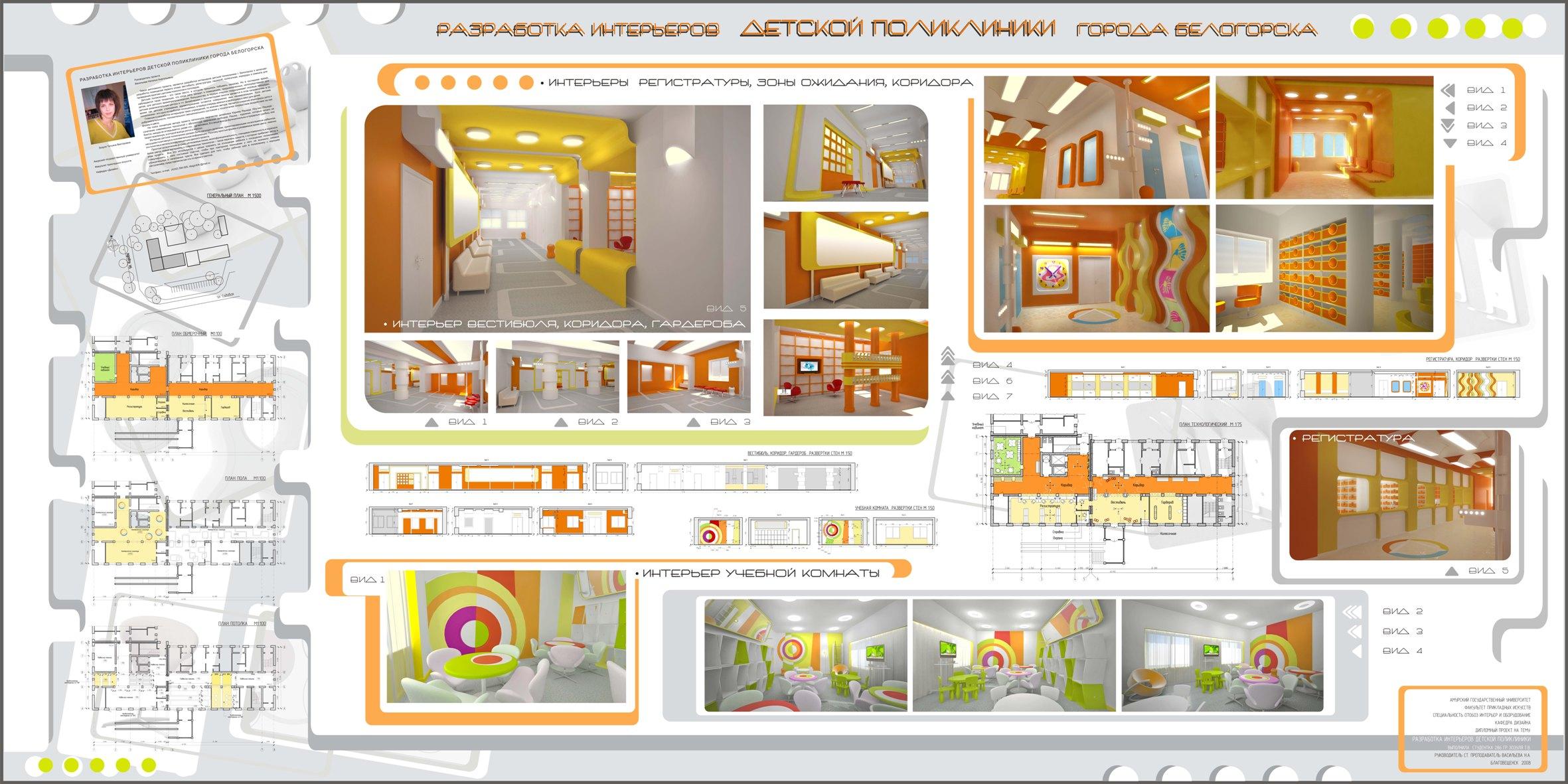 Разработка дизайн проекта детского сада